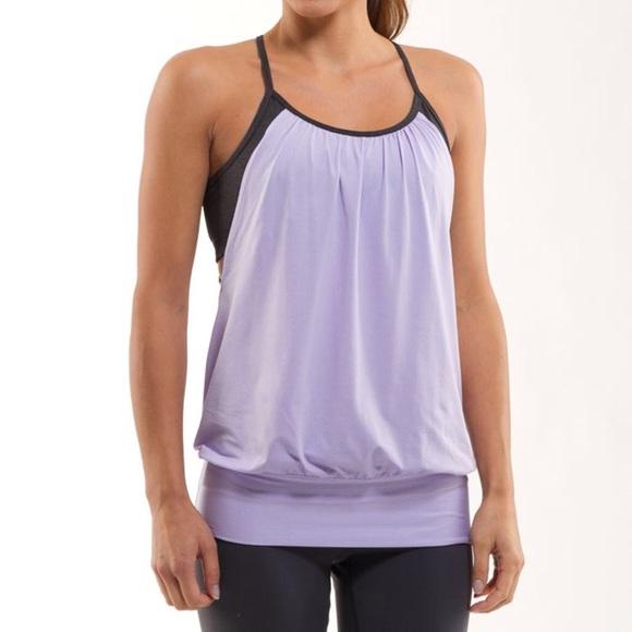 36573e36d6 lululemon athletica Tops - Lululemon No Limit Tank- Sport Grey  Lolo Purple